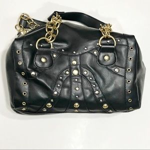Handbags - 🌸5 for $25 NWOT gold stud w/ chain strap purse